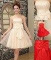Cheap!New big bow bridesmaid dresses 4 colors mini dresses, Graduation Dresses party dress Above knee