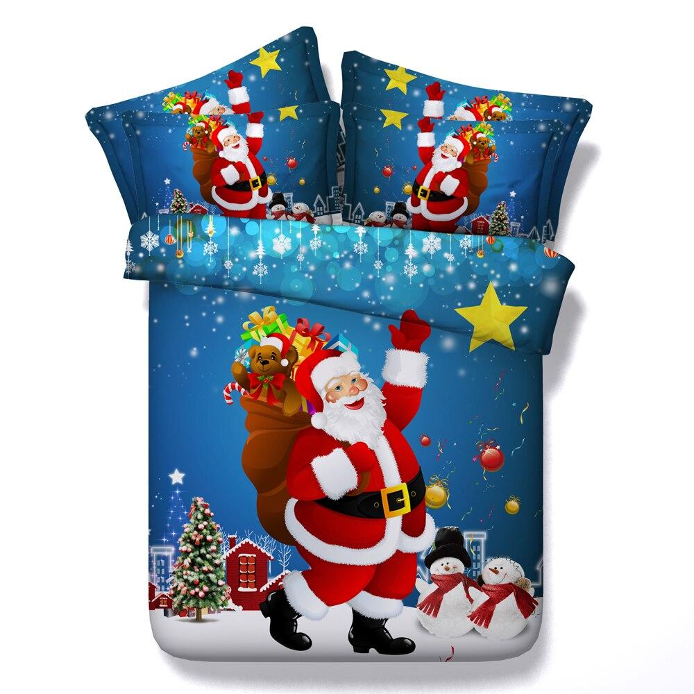 Christmas Bedding Set Duvet Covers Super King Queen Size