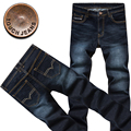 2016 men three-dimensional cultivate one's morality design straight jeans /business and leisure travelers youth stretch jeans
