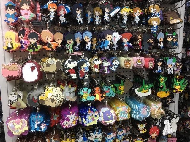 Venta al por mayor Fate stay night/Touhou Proyecto/KUROKO NO BASK Original japonés anime figura goma teléfono móvil encantos/ llavero/Correa