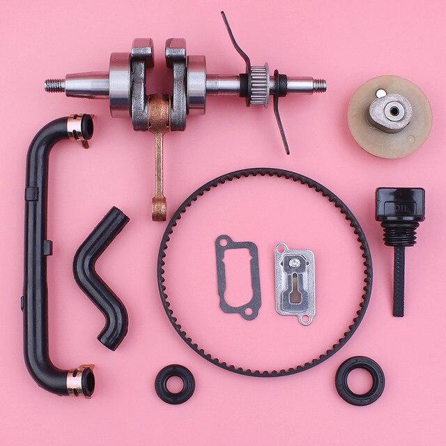 US $35 78 8% OFF|Crankshaft Camshaft Pulley Gear Timing Belt Oil Seal For  Honda GX35 35cc 4 Stroke Mower Engine Breather Oil Tube Dipstick-in Lawn