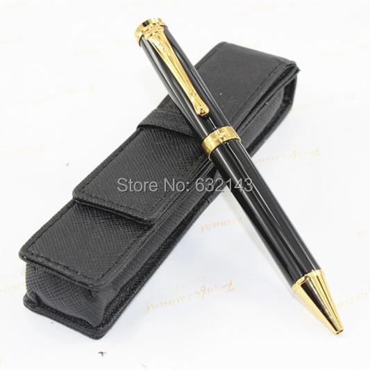 JINHAD 500 Black and gold ballpoint Pen /Black pen bag # + best gifts s530d black