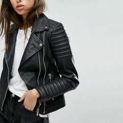 2018 новые модные женские туфли гладкой Мотоцикл Куртки из искусственной кожи дамы с длинным рукавом Осень Зима Байкер уличная черный, розово
