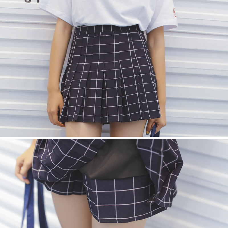 aliexpresscom buy south korea ulzzang plaid skirt