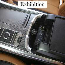 ABS Matte Car Central Storage Box Armrest Decoration Strips Trim For Range Rover Sport 2018 Accessories