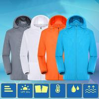 Plus Size Women Men Summer Cooling USB Air Conditioning Jackets With Fan Summer Outdoor Mountain Bike Hooded Windbreaker Clothes