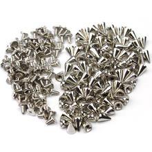100x Серебряный входной конус винтовая заклепка из бисера DIY металлические конусные штифты для поделок из кожи Nailhead Spots Rock для сумок одежда обувные Ремни Шляпы