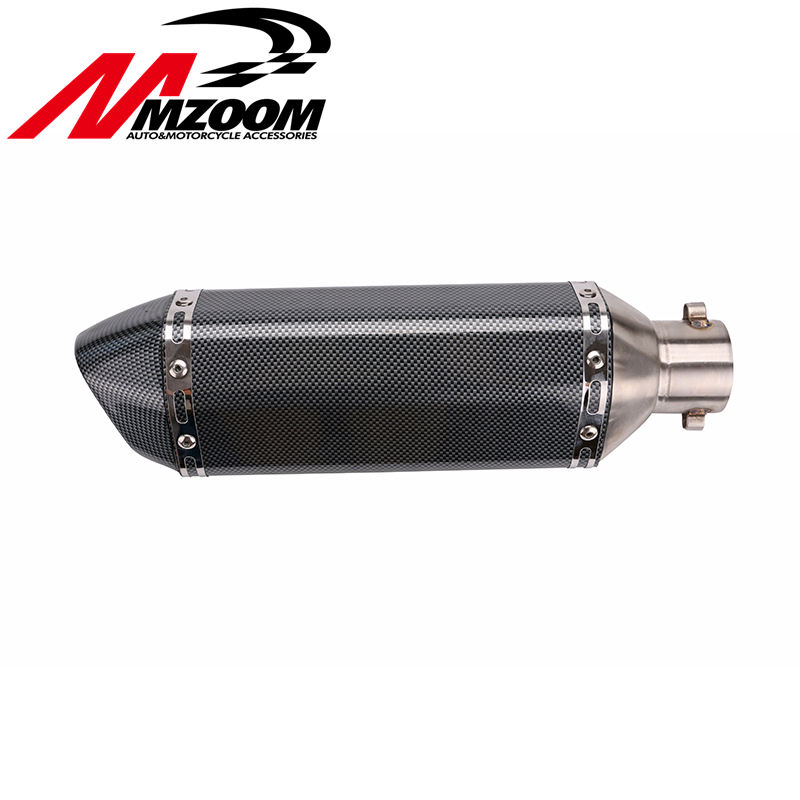 Free shipping 51mm Universal Motorcycle exhaust Modified Scooter Exhaust Muffler GY6 for HONDA R1 R3 R6 FZ6 Z1000 GSXR600