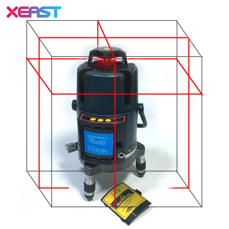 XEAST XE-17A NEW 8 Lines 3D Laser Level Self-Leveling 360 Horizontal Vertical Line Touch Button Red Laser Beam Line xeast 12 line laser level 360 vertical and horizontal self leveling cross line 3d laser level red beam better than fukuda