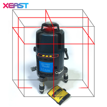 XEAST XE-17A NEW 8 Lines 3D Laser Level Self-Leveling 360 Horizontal Vertical Line Touch Button lithium battery include