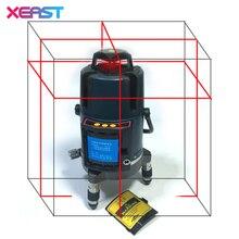 XEAST XE-17A NEUE 8 Linien 3D Laser Level Selbstverlaufende 360 Horizontale Vertikale Linie Touch-Taste Roten Laserstrahl linie