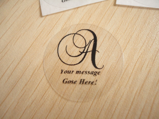 90 pcs 1 2 inches personalized initial letter monogram circle envelope seals wedding party favors sticker in party favors from home garden on