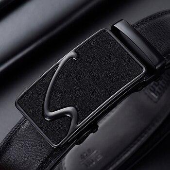 [jsj]belt male brand belt men strap male metal automatic buckle genuine leather strap belts for men top quality luxury Busiiness