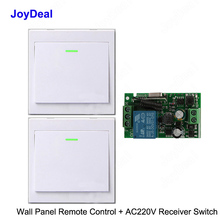 433Mhz bezprzewodowy RF pilot zdalnego sterowania przełącznik AC 110V 220V lampa LED żarówki bezprzewodowe przełączniki korytarz pokój Home Panel ścienny przełącznik
