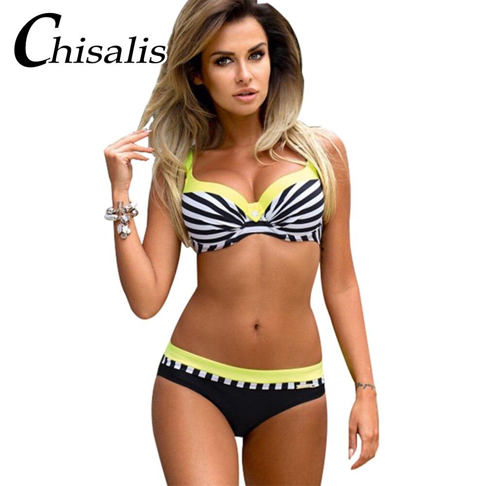 2018 Sexy Bikini Push Up Women Swimsuit Print Top biquini Brazilian bikinis Set Swim Bathing Suit Girl Beachwear Female Swimwear 4