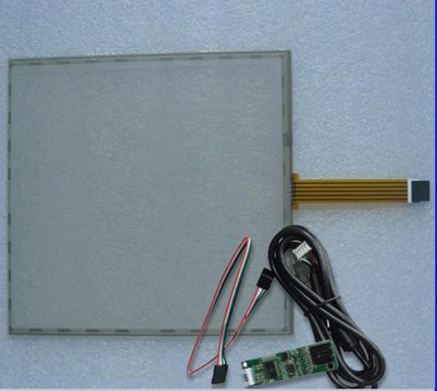 17inch 355x288mm 5Wire Resistive Touch Screen Panel USB kit for 17 monitor 17inch resistive touch screen panel 382 2x239 5mm 5wire usb driver board kit for 17 monitor