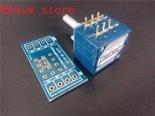 Mshow בקרת עוצמת קול יפן האלפים 27 פוטנציומטר הכפול 10 K 50 k 100 K RK27 סוג פיר עגול עם מתאם PCB