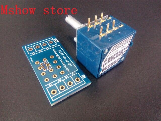 Mshow japonia ALPS regulacja głośności 27 typ podwójny potencjometr 10K 50k 100K RK27 okrągły trzonek z adapterem PCB