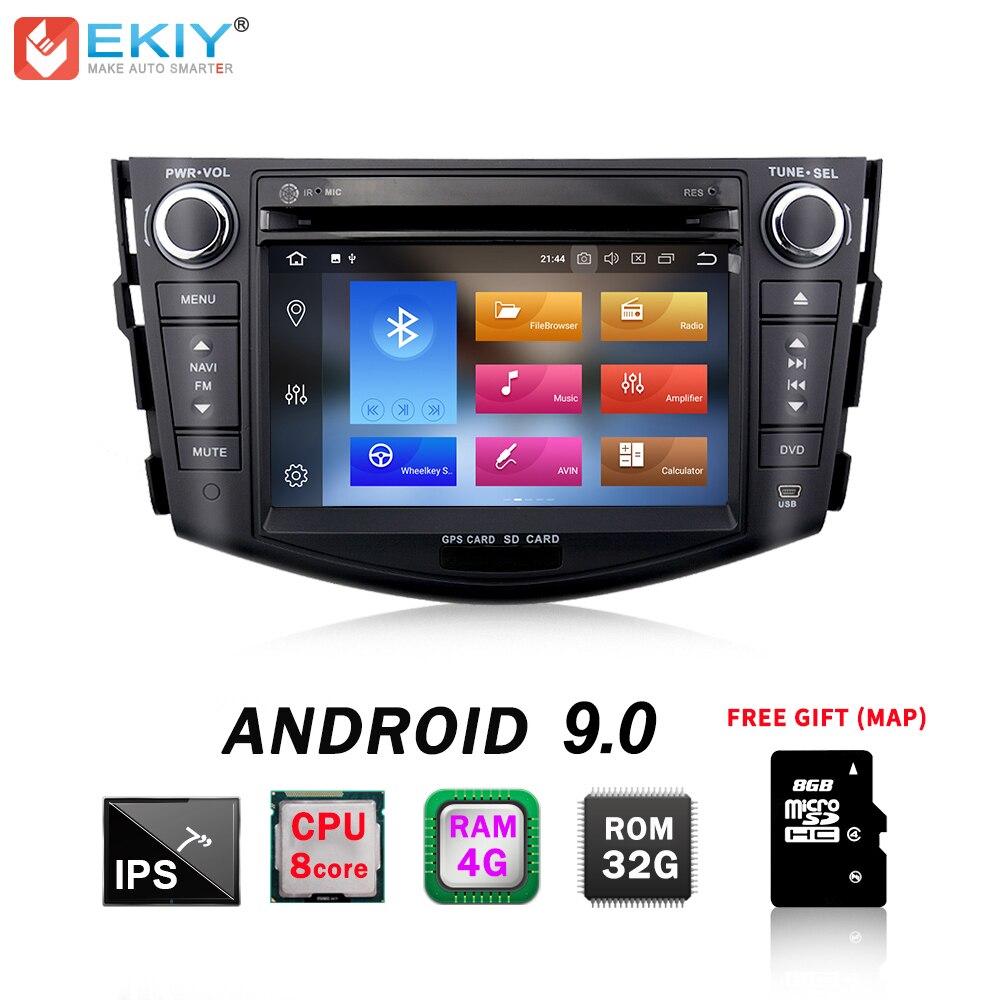 EKIY lecteur Radio DVD 7 ''IPS 2Din TDA7851 Android 9.0 lecteur multimédia GPS Navigation pour Toyota RAV 4 RAV4 Audio stéréo RDS Wifi