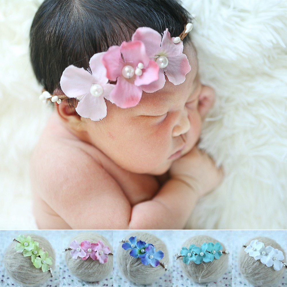 5 KLEUREN handgemaakte pasgeboren Baby garland Hoofdband, pasgeboren - Babykleding