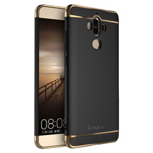 iPaky New Housing For Huawei Mate 9 Case 3 in 1 Set Hard Plating Phone Back Cover For Huawei Mate9