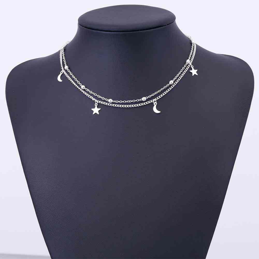 IPARAM 2019 Новое модное многослойное Золотое элегантное золотое ожерелье звезды золотое ожерелье lasso ожерелье подарок