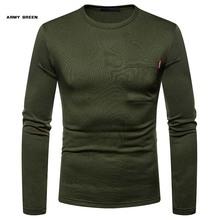 2020 wysokiej jakości jesienne zimowe męskie ciepłe termiczne Tshirt człowiek z długim rękawem Casual O Neck Plus aksamitne koszulki męskie koszulki z kieszenią tanie tanio URSPORTTECH Pełna CN (pochodzenie) O-neck tops Tees regular Suknem COTTON Poliester Na co dzień Stałe Business affairs