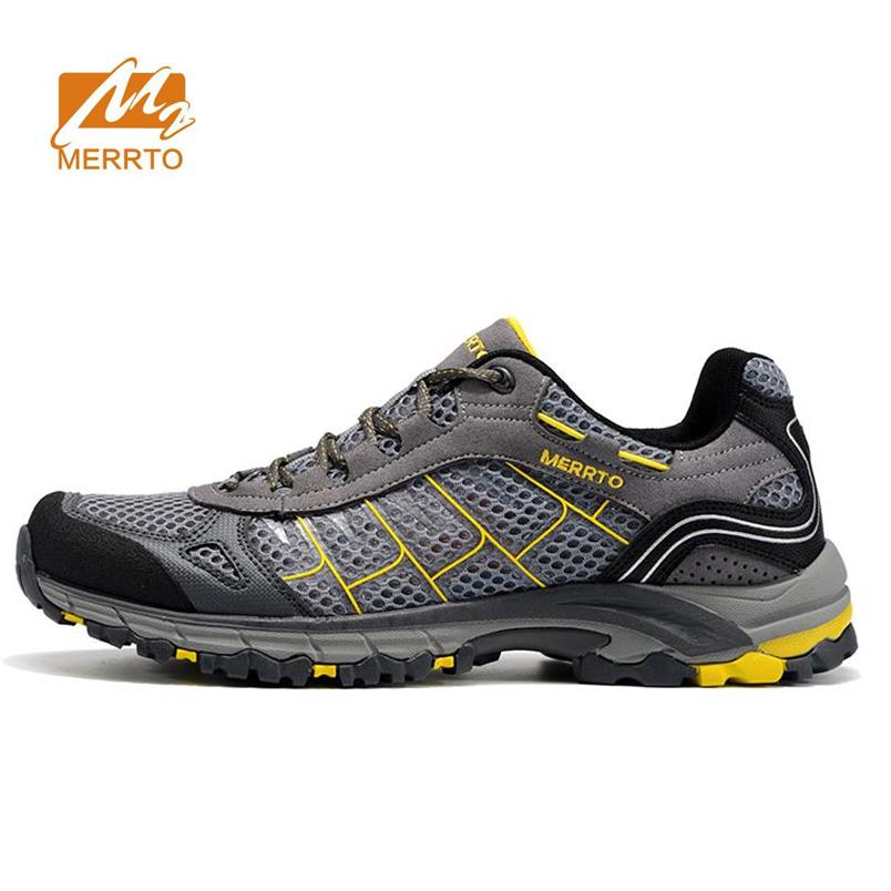 Famous Brand Men's Summer Sports Outdoor Hiking Trekking Shoes Sneakers For Men Mesh Breathable Climbing Mountain Shoes Man camo breathable water resistant lace up high top mesh outdoor sports trekking hiking shoes men camping travel climbing sneakers