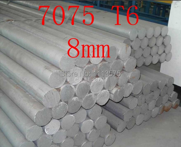 8mm 7075 T6 Aluminium Solid Round Bar Al Rod