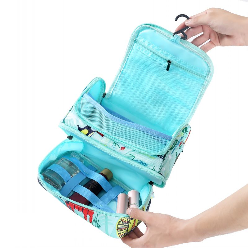 SAFEBET Toiletry-Bag Makeup-Bag Travel-Organizer Hanging-Beauty Flamingo Large Waterproof