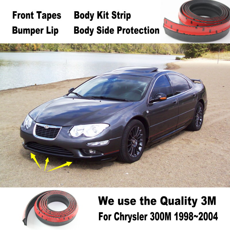 For Chrysler 300 300C 300M For Lancia Thema Car Bumper Lips / Spoiler Body Kit Strip Front Tapes / Body Chassis Side Protection