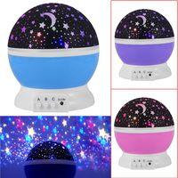 Obrotowa Miga Starry Gwiazda Księżyc Niebo Gwiazda Projektor Pokój Nowość Night Light Lampa Projektora Dla Dzieci Dziecko Infantil Łóżko Lampa Abajur