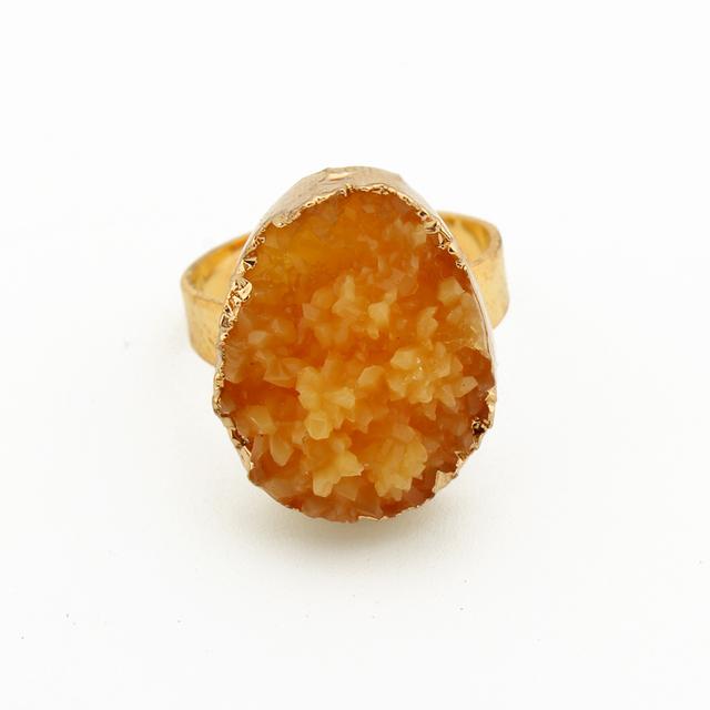 Adjustable Open European Style Stone Unisex Ring
