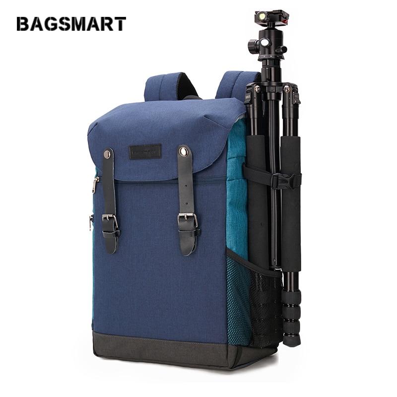 BAGSMART Multifunctional Camera Backpack DSLR Bag for 15 6 Laptops Waterproof Rain Cover for Canon Nikon