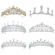 Diverse Silver Gold Color Crystal Crowns Bride tiara Fashion Queen For Wedding Crown Headpiece Wedding Hair Jewelry Accessories все цены