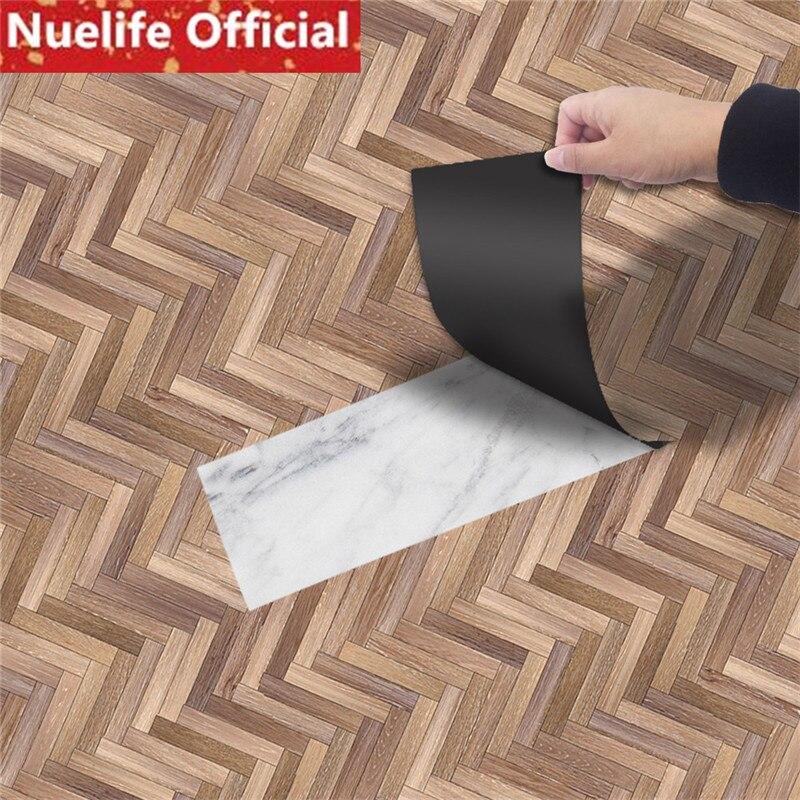 10pcs PVC floor sticker with self adhesive floor leather dining room living room bedroom kitchen green vinyl floor sticker
