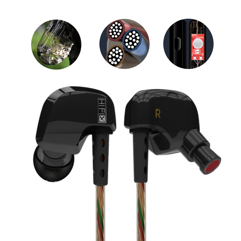 Original KZ ATES ATE ATR HD9 Copper Driver HiFi Sport In Ear Earphone Super Bass Earbuds with Microphone For iPhone Xiaomi Mp3