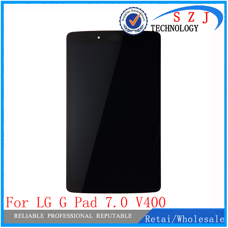 New For LG G Pad 7.0 V400 LCD Display Touch Screen with Digitizer Sensor Panel Tablet Assembly LD070WX7 V400 Screen Free Ship replacement lcd digitizer capacitive touch screen for lg vs980 f320 d801 d803 black