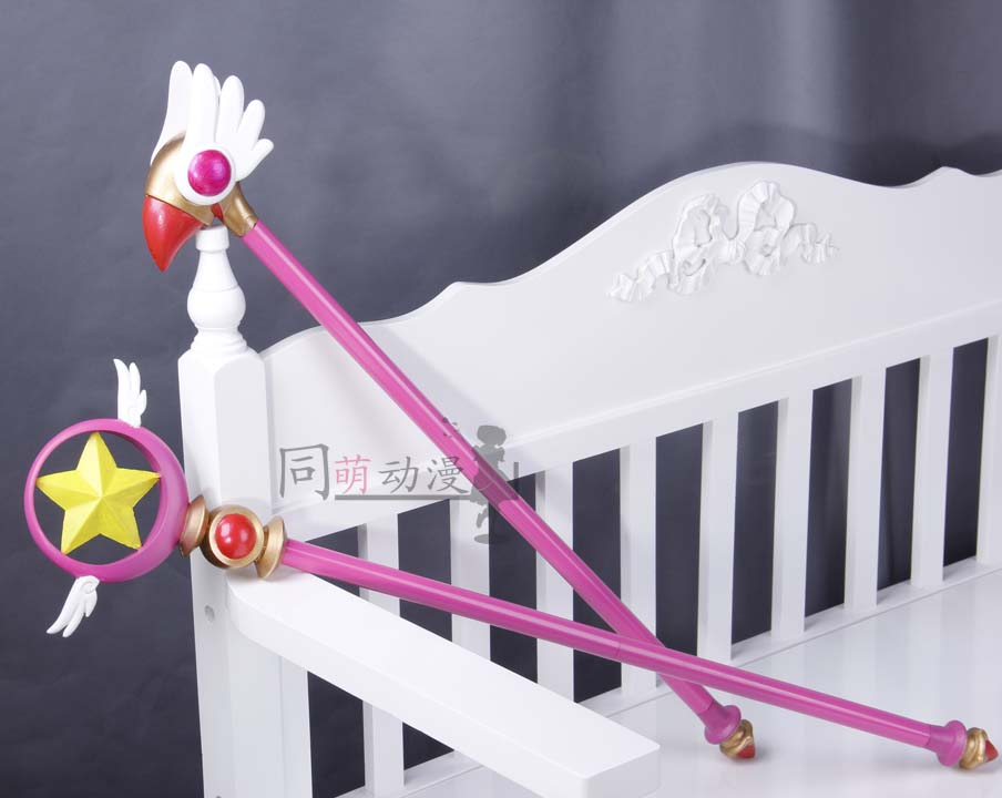 Hearty Free Shipping Card Captor Sakura Kinomoto Sakura Cosplay Props Star Birds Magic Wand Weapon In Stock Costume Props