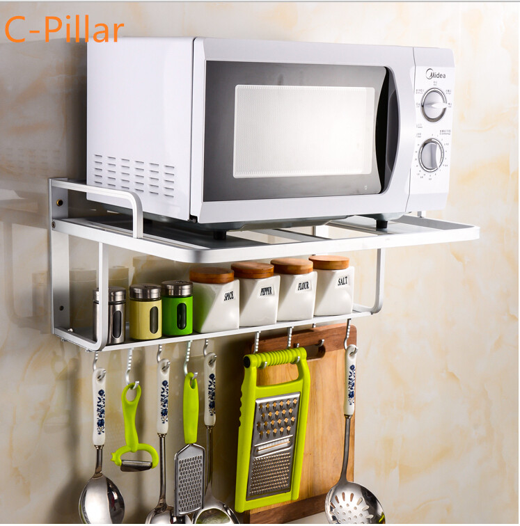 microwave oven shelf rack quality space aluminum kitchen storage shelf