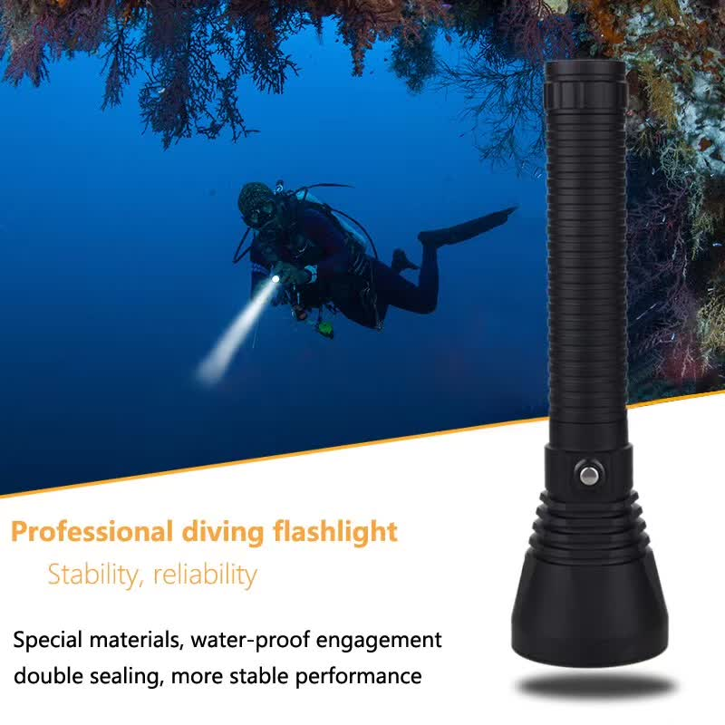LED XHP70 5000 Lumens LED Diving Flashlight White Light Underwater 100M Waterproof Scuba Torch 26650 Battery Charger xhp70 diving flashlight white yellow waterproof powerful led torch 3000k 6000k use 26650 battery