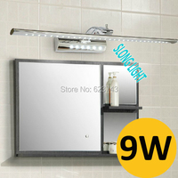 Free Shipping High Quality Stainless Steel Waterproof 9W LED Mirror Light Indoor Lighting LED Bathroom Wall