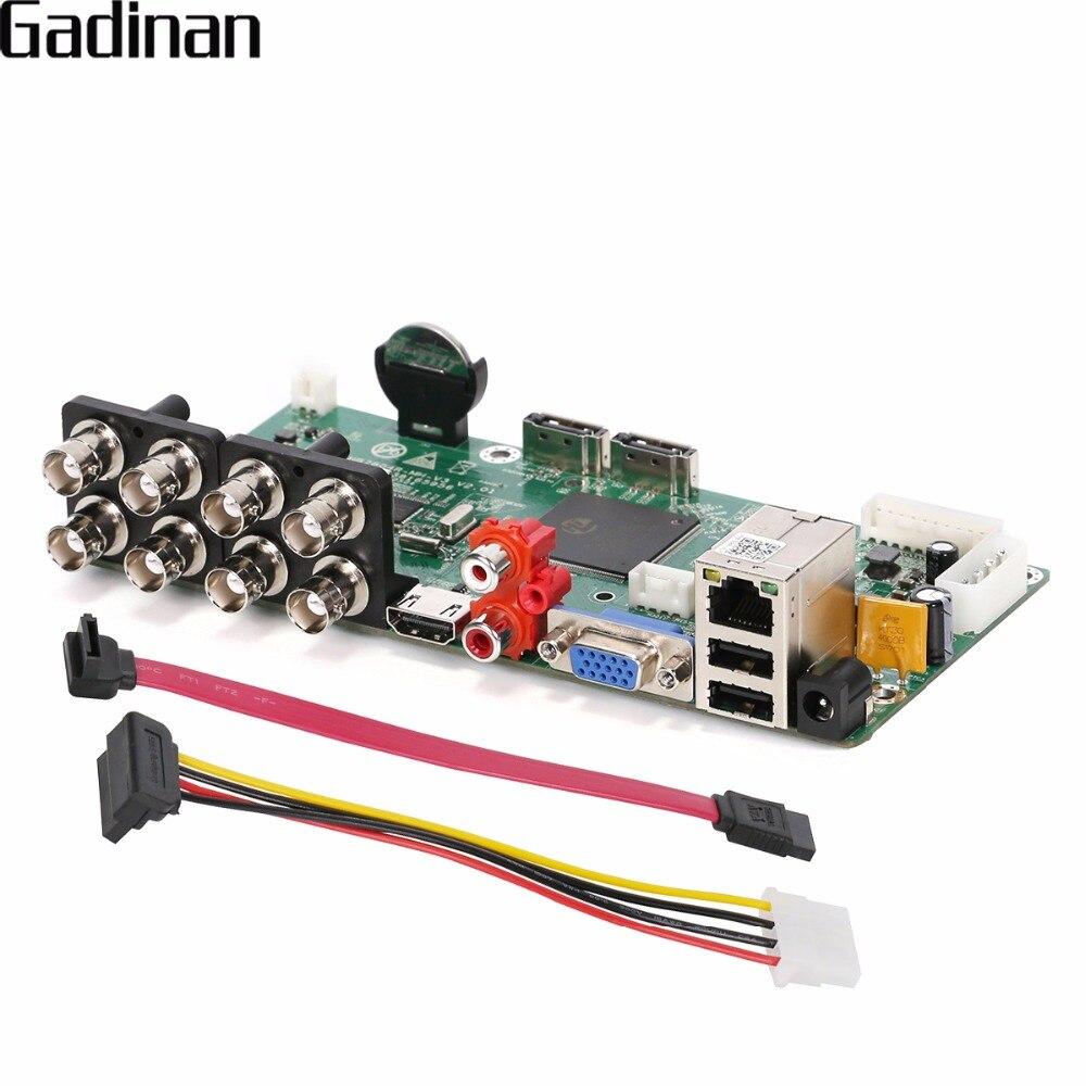GADINAN 8CH AHDNH 1080N HI3520D DVR carte PCB principale analogique IP AHD TVI CVI XVI 5 en 1 DVR prise en charge 8 canaux AHD 1080N/4CH 1080 P lecture