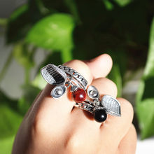 925 Pure Silver Korean Version of the Revolutionary Individual Network Red Tide People's Ring Gift(China)