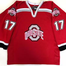 228f367c2 Vintage 17 RYAN KESLER OHIO STATE BUCKEYES RED Hockey Jersey Embroidery Stitched  Customize any number and