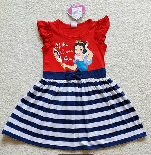 2015 New Summer Children Baby Girls Clothes Snow White Princess