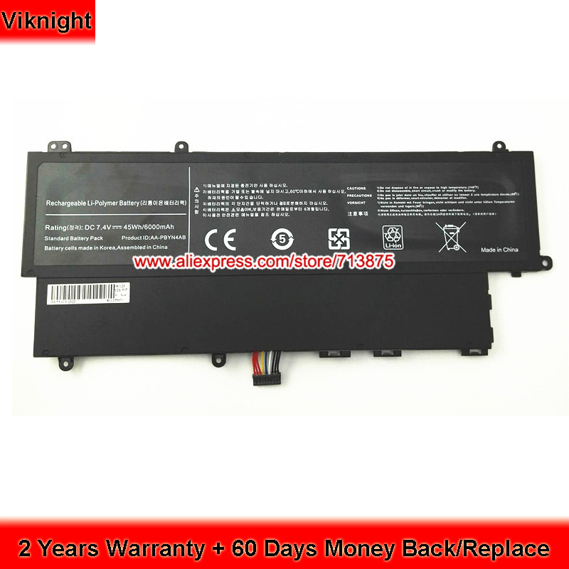 High Quality 7.4V 6000mAh AA-PBYN4AB Laptop Battery for SAMSUNG NP530U3C Battery NP530U3B-A03RU Batteries