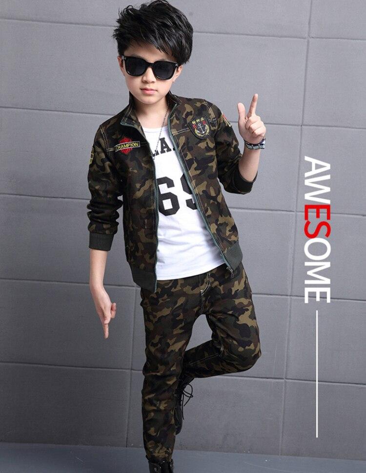 f5c320ee3 Kindstraum 2017 New Hot Autumn Kid Clothing Set Active Fashion Camouflage  2pcs Long Sleeve Pants Boy ...