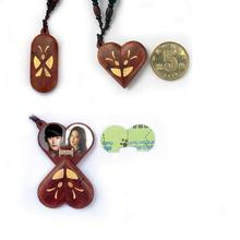 The Illusionist Locket Butterfly Pterocarpus Santalinus Pendant Necklaces Magic Butterfly Trick Christmas Valentine's Day Gift
