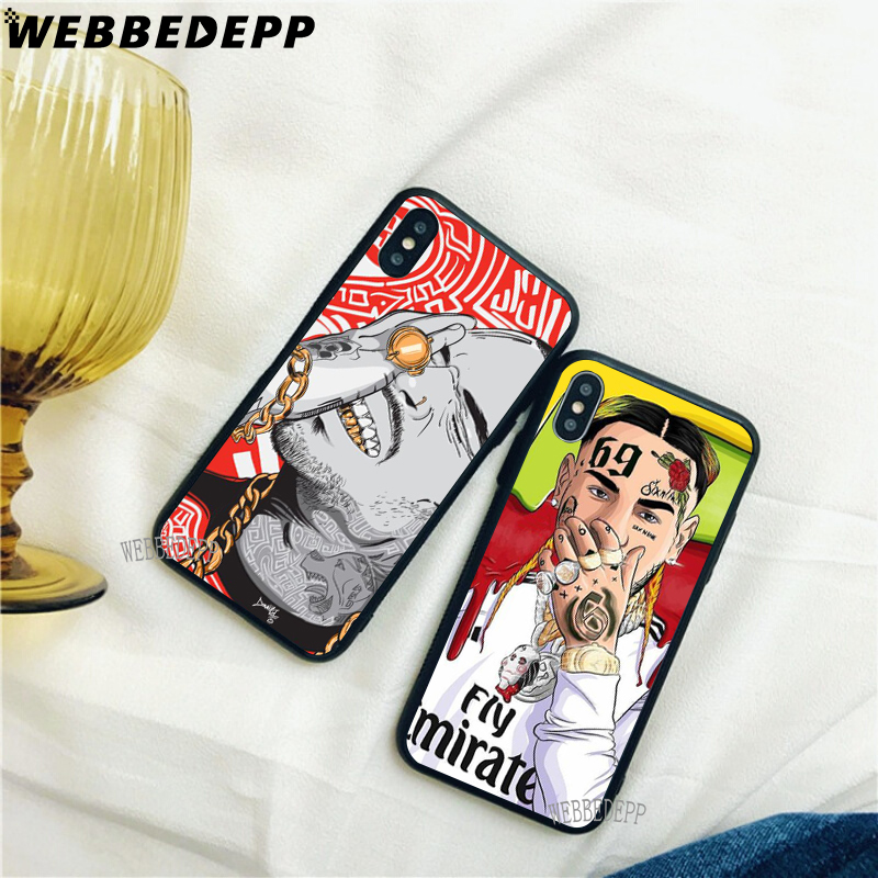 WEBBEDEPP Hip Hop Rapper 69 6IX9INE Soft TPU Case Cover for Xiaomi Redmi GO Note 4 4X 5 6 pro 5A Prime 7 7 Pro in Fitted Cases from Cellphones Telecommunications
